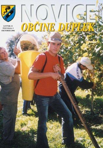 NOVICE OB^INE DUPLEK, letnik 11, {tevilka 3, javno glasilo