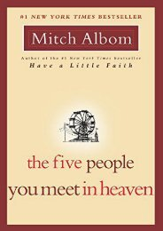 Download PDF The Five People You Meet in Heaven Full
