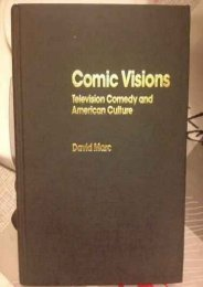 [PDF] Download Comic Visions: Television Comedy and American Culture (Media   Popular Culture) Online