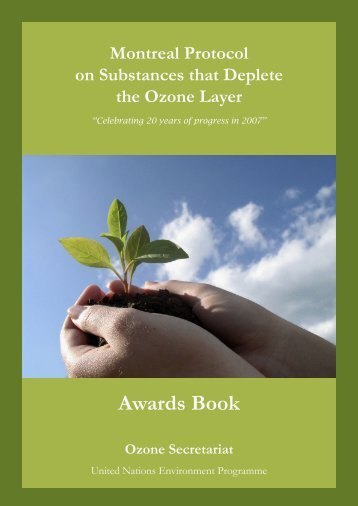 Awards Book - Ozone Secretariat - UNEP