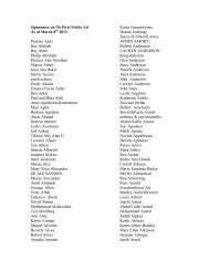 Signatures on No First Strike Ad As of March 8th 2012 Paulina Aarts ...
