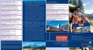 Salzburger Sportwelt Card - Tourismusverband Flachau