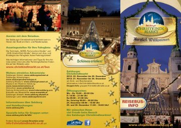 reisebusinfo - Der Salzburger Christkindlmarkt