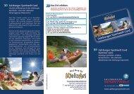 Salzburger Sportwelt Card Salzburger Sportwelt Card
