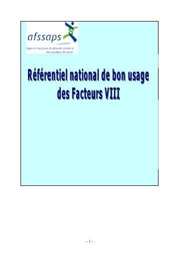 Facteurs VIII - Omedit Centre