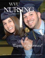 "Paying it Forward"" - School of Nursing - West Virginia University"
