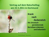 Vortrag auf 8. Naturheiltag Dortmund 22.5.2011 - Dr. med. Petra ...