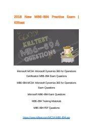 2018 New MB6-894 Microsoft PDF MB6-894 Questions