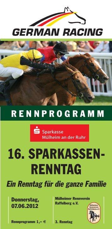 16. SPARKASSEN- RENNTAG - Mülheimer Rennverein Raffelberg eV