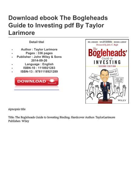The Bogleheads Guide To