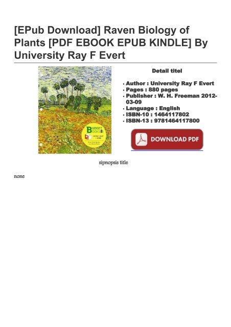 Raven Biology Of Plants Pdf