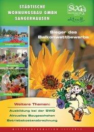 Sieger des Balkonwettbewerbs - SWG Sangerhausen
