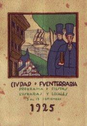Programa de fiestas euskaras y locales Septiembre 1925