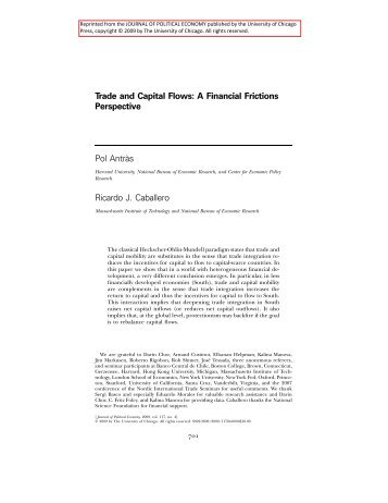 Trade and Capital Flows: A Financial Frictions Perspective Pol Antra ...