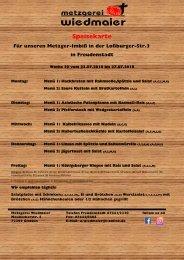 Speisekarte Loßburger Str.  Kw 30