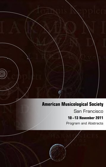 Program & Abstracts - American Musicological Society