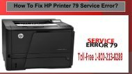 Dial 1-800-213-8289 HP Printer 79 Service Error for Ultimate Solution