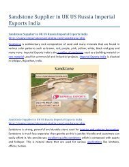 Sandstone Supplier in UK US Russia Imperial Exports India