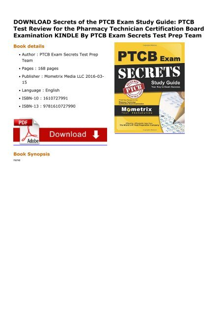 Secrets Of The Ptcb Exam