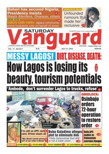 21072018 - MESSY LAGOS! : DIRT, DISEASE, DEATH: How Lagos is losing its beauty, tourism potentials