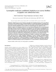 Lysostaphin eradicates established Staphylococcus aureus biofilms ...