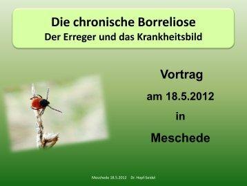 Vortrag in Meschede am 18.5.2012 über die - Dr. med. Petra Hopf ...