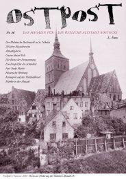OSTPOST 36 - Das Magazin für die Östliche Altstadt Rostocks - Das Altstadtmagazin