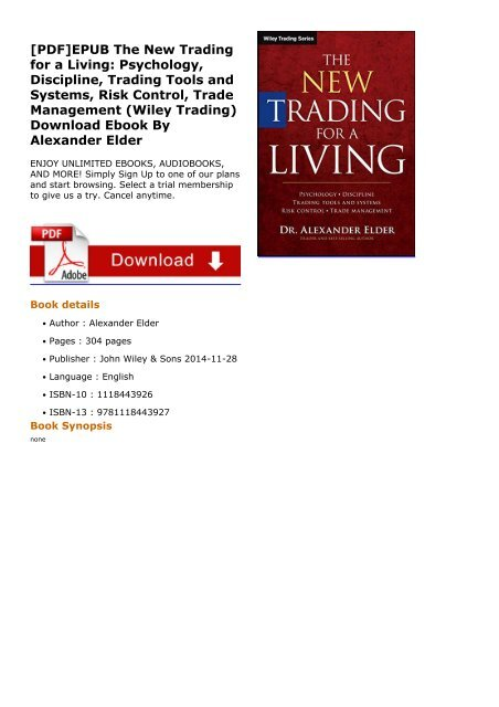 Download the new trading for a living: psychology, trading tactics, r….
