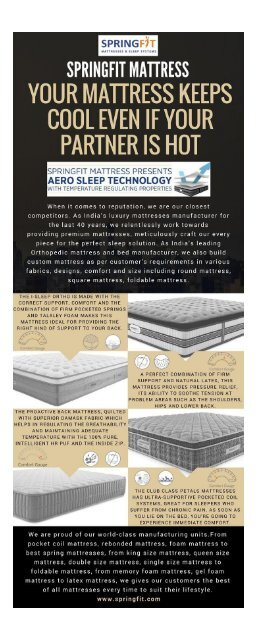 Why You Should Buy King-Queen Size-Single Bed-Double Bed-Foldable Mattress from Springfit