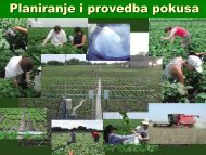 Planiranje i provedba pokusa u poljoprivredi