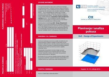 Planiranje i analiza pokusa Ctt - FSB