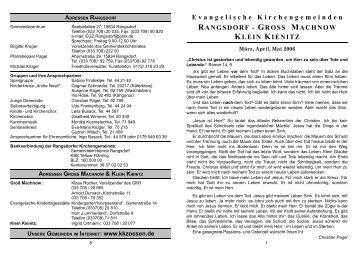GROSS MACHNOW KLEIN KIENITZ - Evangelischer Kirchenkreis ...