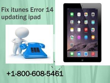 Fix itunes Error 14 updating ipad.