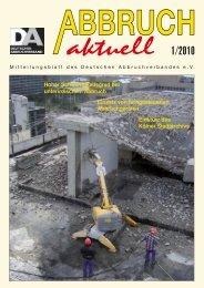Baustellenberichte - Deutscher Abbruchverband eV