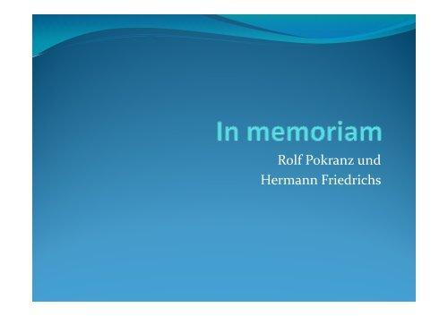 Rolf Pokranz und Hermann Friedrichs
