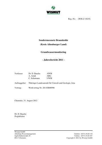 Sondermessnetz Braunkohle (Kreis Altenburger Land) - Thüringer ...