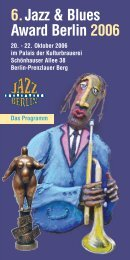 6.Jazz & Blues Award Berlin 2006 - Berliner Pilsner