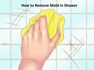 How to Remove Mold in Shower