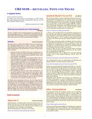 urz 03/08 – aktuelles, tipps und tricks - Urz - Universität Heidelberg