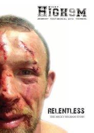2014 Micky Higham Relentless Testimonial Brochure