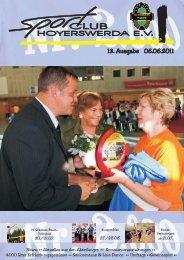 13.Ausgabe 06.06.2011 - Sportclub Hoyerswerda eV