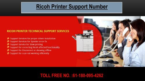Ricoh Printer Support Number Australia