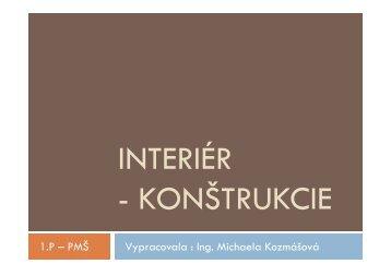 1.P – PMŠ Vypracovala : Ing. Michaela Kozmášová