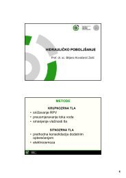 HIDRAULIČKO POBOLJŠANJE METODE • snižavanje RPV ...