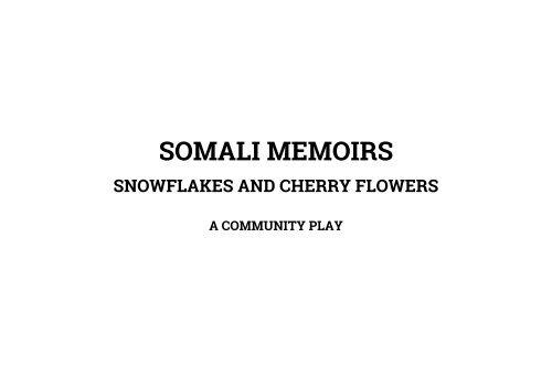SOMALI MEMOIRS book