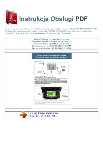 ez-guide 250 - INSTRUKCJA OBSLUGI PDF