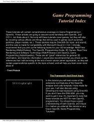 Trent Polack's OpenGL Game Programming Tutorials