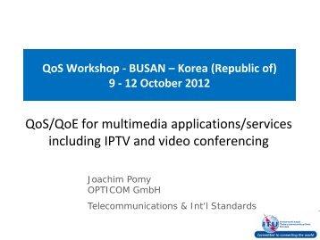 QoS Workshop - BUSAN – Korea (Republic of) 9 - ITU Academy