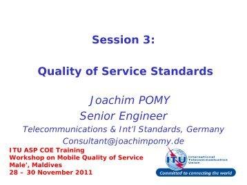 ITU ASP COE Training Workshop on Mobile Quality ... - ITU Academy