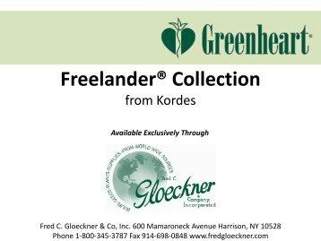 Freelander® Collection - Fred C. Gloeckner & Company Inc.